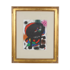 Print of Abstract Figure by Joan Miro