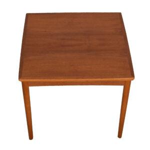 Petite Game / Dining Danish Teak Expanding Square Table