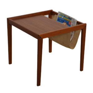 Danish Modern Teak Magazine Rack / Side Table