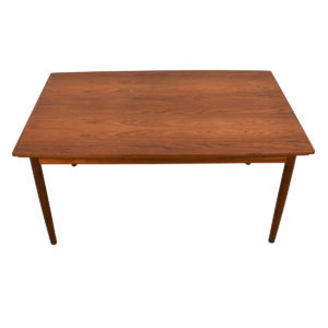Danish Modern Teak Curved Expanding Dining Table