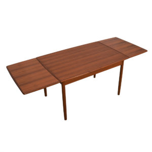 Danish Teak Apartment-Sized Dining Table w/ Leaves