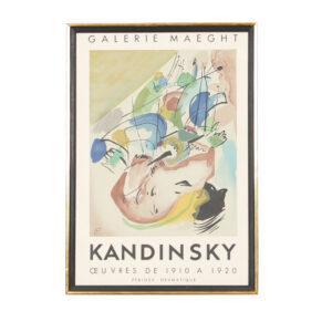 Kandinsky Vintage Poster – Galerie Maeght, Paris