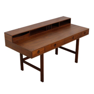 'Flip-Top' Danish Modern Walnut Expanding Partner's Desk