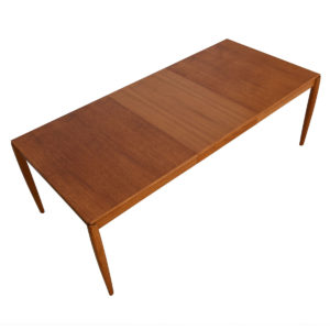 Rare Danish Teak Expanding Dining Table by HW Klein