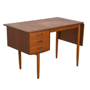 Danish Modern Teak Expanding Drop-Leaf Desk
