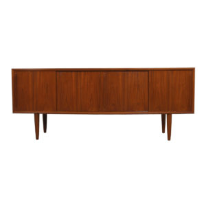 Bowed Front Danish Teak Sideboard by Arne Vodder w/ Optional Display Top