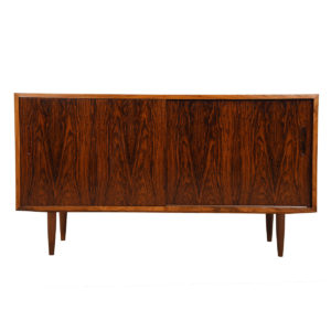 Compact 54″ Danish Rosewood Sideboard / Media Cabinet (Cloud)