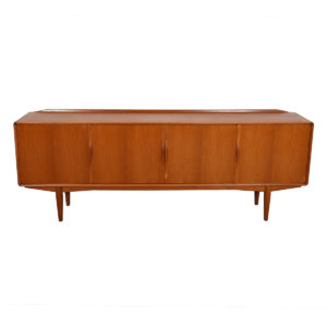 Long Danish Modern Teak Sideboard / Room Divider with Organic Pulls