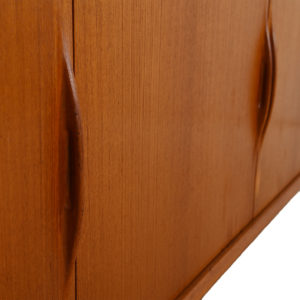 Long Danish Modern Teak Sideboard / Room Divider with Organic Pulls