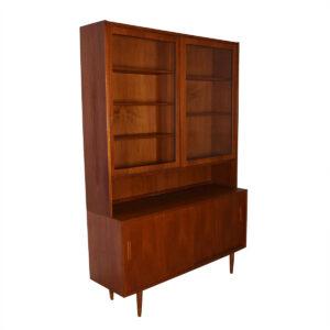 2-Piece Danish Teak (54.5″) Display / Storage Cabinet