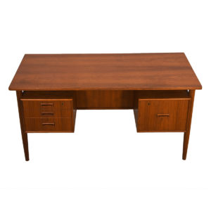 Mid-Sized Danish Modern Teak Floating Top Desk