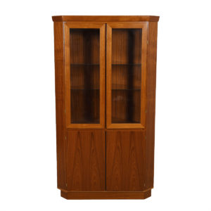 Danish Teak Corner Display Cabinet