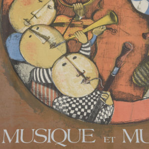 Musque Et Musiciens Exhibition Poster
