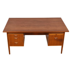 Danish Modern Teak Large Floating Top Desk