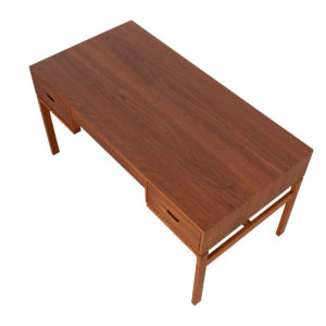 Exquisite Danish Modern Teak Executive Desk