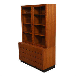 2-Piece Danish Teak Display w/ Chest of Drawers
