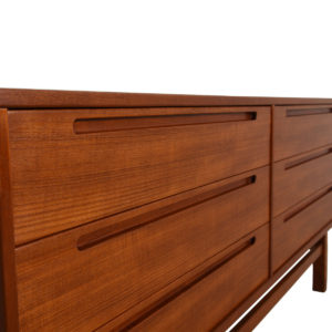 Teak Danish Modern 6 Drawer Dresser