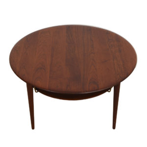 Solid Teak Peter Hvidt & Orla Molgaard Nielsen Round Coffee Table