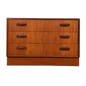 Compact English G-Plan Teak 2-Tone Teak Chest of Drawers
