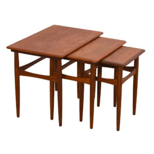 Andreas Tuck / Wegner Trio of Danish Solid Teak Nesting Tables