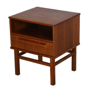 Torring Danish Modern Walnut Nightstand / End Table