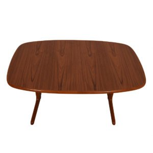 Danish Teak Rounded Edge Expanding Dining Table