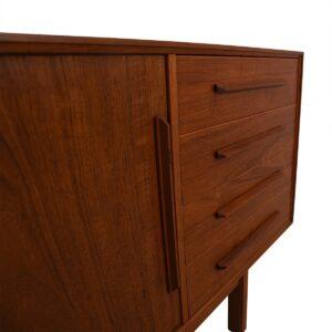 Slim Danish Modern Teak Sideboard / Credenza