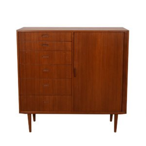 Falster Danish Modern Tall Teak Gents Chest / Dresser