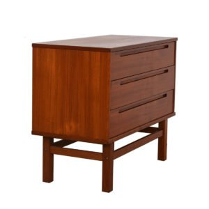 Torring Danish Modern Teak 3 Drawer Chest / Night Stand