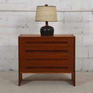 Danish Modern Teak 4 Drawer Chest / Dresser
