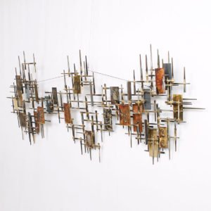 Jere Style Metal Abstract Wall Sculpture