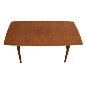 Arne Vodder / Sibast Long Danish Teak Curved Expanding Dining Table