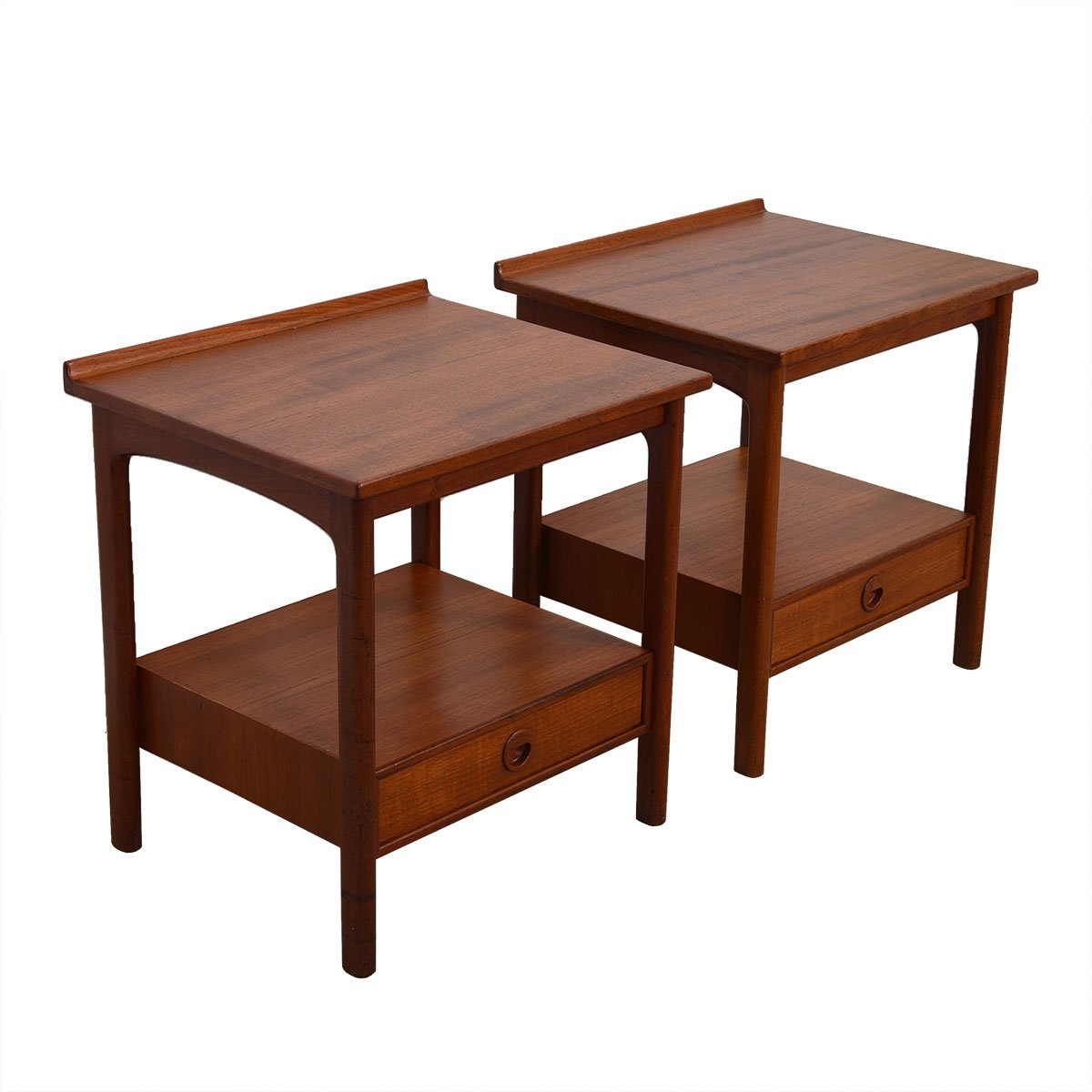 Rare Pair Of Teak Swedish Modern Night Stands End Tables