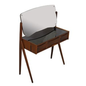 Danish Rosewood Splayed Leg Pivot-Mirrored Vanity