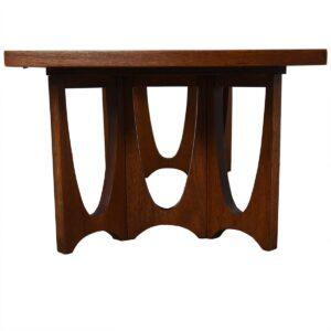 Mid Century Walnut Brasilia Style Coffee Table