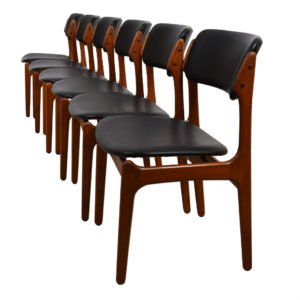 Set of 6 Erik Buch Danish Modern Teak Dining Chairs
