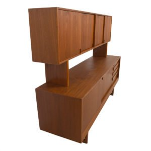 2-Pc. Danish Teak Double Decker / Room Divider / Storage Powerhouse