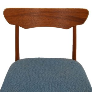 Set of 6 Danish Modern Teak Sculpted Back Dining Chairs