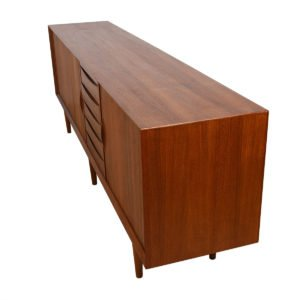 Arne Vodder Model 29 – Danish Teak 97″ Tambour Door Sideboard / Room Divider