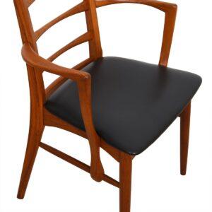 Set of 6 (2 Arm + 4 Side) Koefoeds Hornslet Danish Teak Dining Chairs