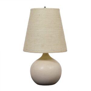 Lotte & Gunnar Bostlund Ceramic Lamp with Original Fiberglass Shade