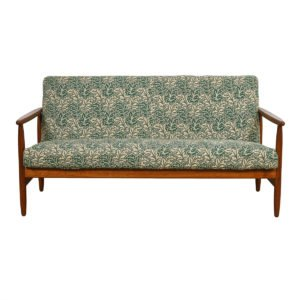Danish Modern Walnut Set of Sofa and 2 Lounge Chairs