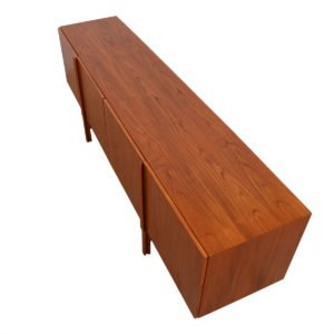 Long Danish Modern Teak Sideboard / Room Divider