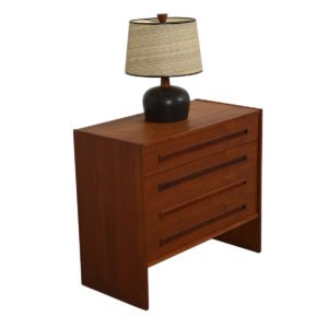 Danish Modern Teak 4 Drawer 'Guest Bedroom Chest'