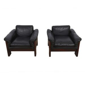 Pair of Milo Baughman for Thayer Coggin Rosewood Lounge Chairs