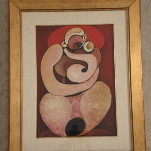 'Mamma con Bambino' Vintage Painting by Domenico Colanzi