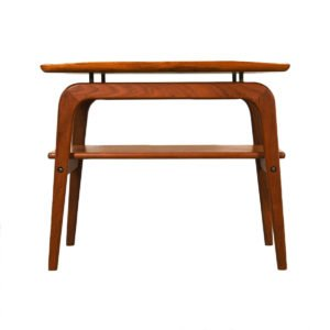 Pair Danish Modern Floating Teak End Tables