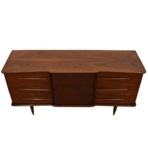 Mid Century Modern 9-Drawer Walnut Dresser
