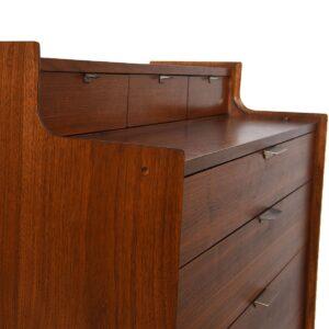 Mid-Century Modern Walnut Tall Dresser in the Manner of Paul McCobb