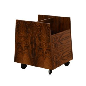 Rosewood Rolling Magazine, LP / Vinyl Records Cart